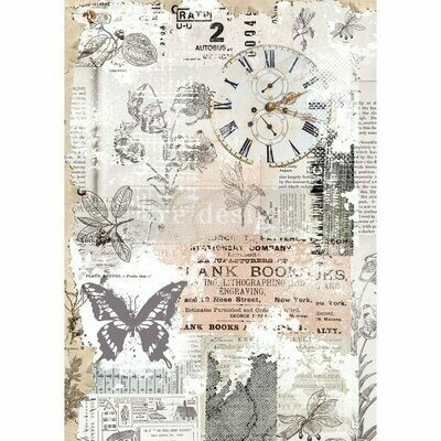 Herb's Memory A3 Rice Paper - Re-Design With Prima