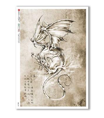 Folk_0091 - A4 Rice Paper - Paper Designs