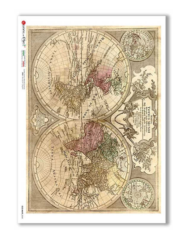 Old Maps_0043 - A4 Rice Paper - Paper Designs