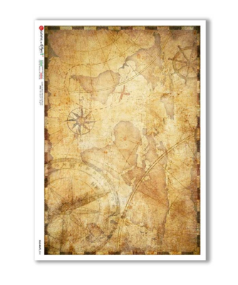 Old Maps_0041 - A4 Rice Paper - Paper Designs