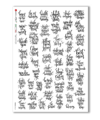Phrases_0034_UK - A4 Rice Paper - Paper Designs