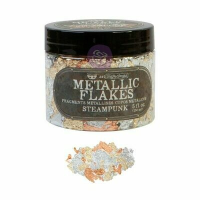 Steampunk Metal Flakes - Art Ingredients - Re-Design With Prima