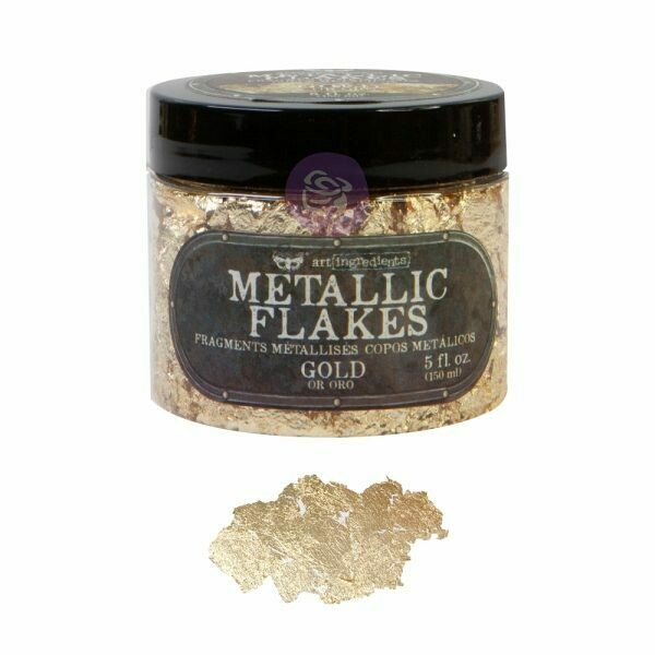 Gold Metal Flakes - Art Ingredients - Re-Design With Prima