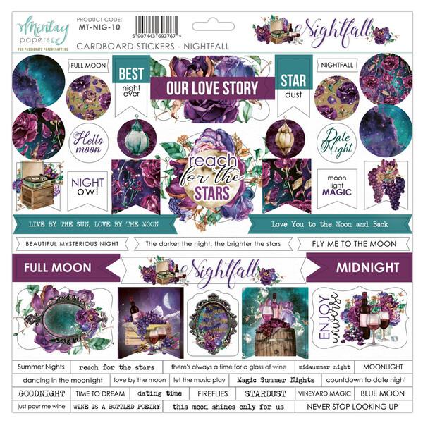 Nightfall Chipboard Stickers - Mintay by Karola