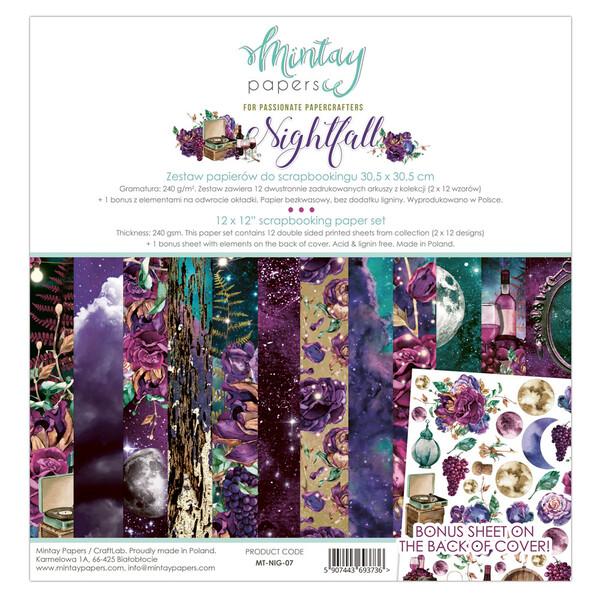 Nightfall 12x12 - Mintay by Karola