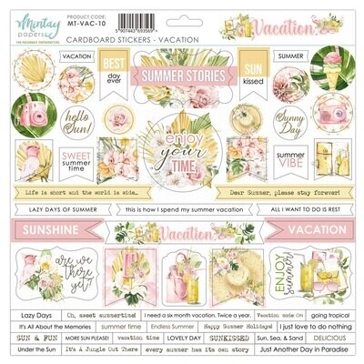 Vacation Chipboard Stickers - Mintay by Karola
