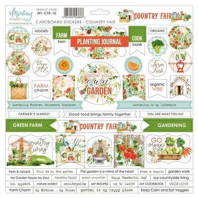 Country Fair Chipboard Stickers - Mintay by Karola