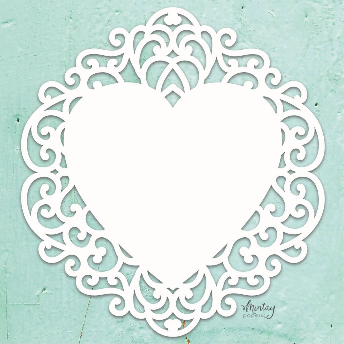 Fancy Heart Chippies - Mintay by Karola