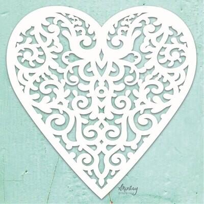 Filligree Heart Chippies - Mintay by Karola