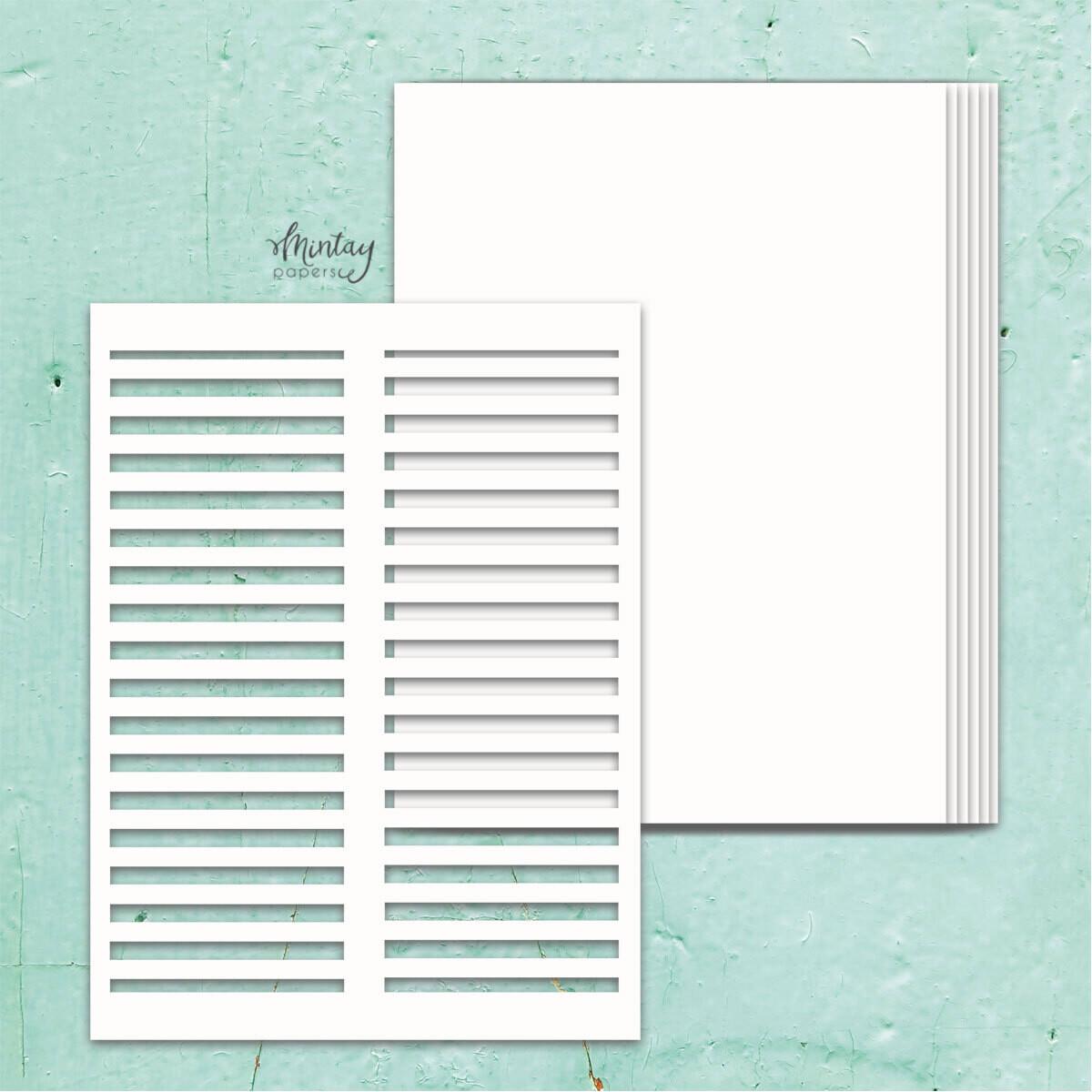 Shutters Chipboard Album Base - Chippies - Mintay by Karola