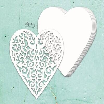 Heart Chipboard Album Base - Chippies - Mintay by Karola
