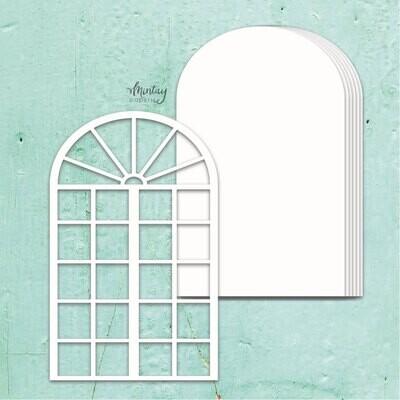 Window Chipboard Album Base - Chippies - Mintay by Karola