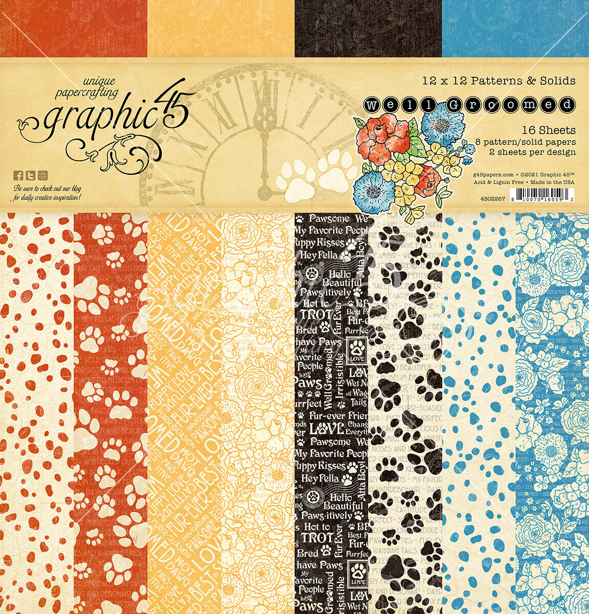 Well Groomed 12x12 Patterns and Solids - Graphic 45