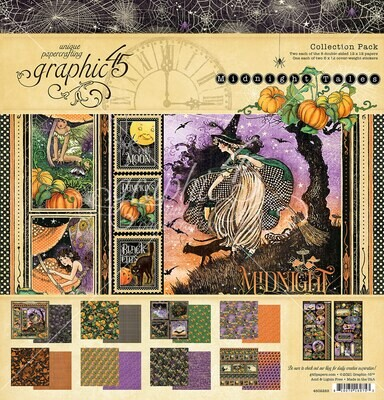 Midnight Tales 12x12 Collection Pack With Stickers - Graphic 45