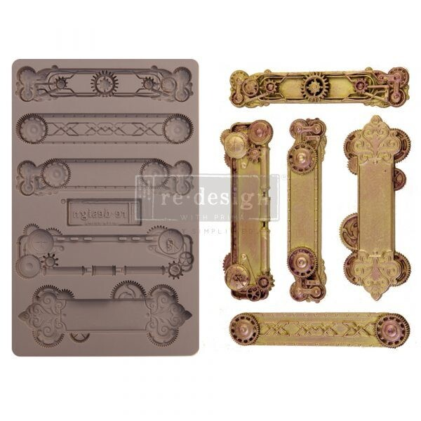 Steampunk Plates - Redesign Decor Moulds - Re-Design With Prima