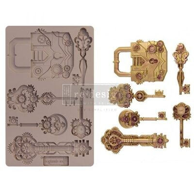Mechanical Locks & Keys - Redesign Decor Moulds - Re-Design With Prima