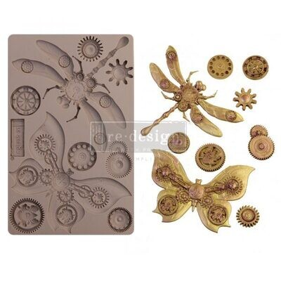 Mechanical Insectica - Redesign Decor Moulds - Re-Design With Prima