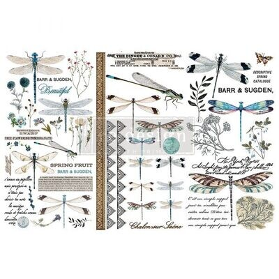 Spring Dragonfly - Redesign Decor Transfers - Re-Design With Prima