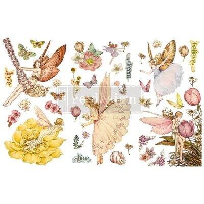 Fairy Flowers - Redesign Decor Transfers - Re-Design With Prima