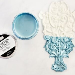 Rare Aqua - Acrylic Paint Metallic Sheen - Re-Design With Prima