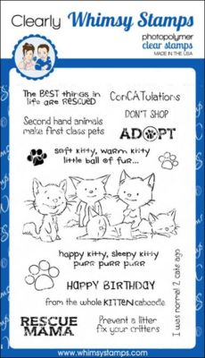 Adopt Don't Shop Cats - Whimsy Stamps