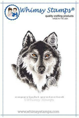Wolf Head - Whimsy Stamps