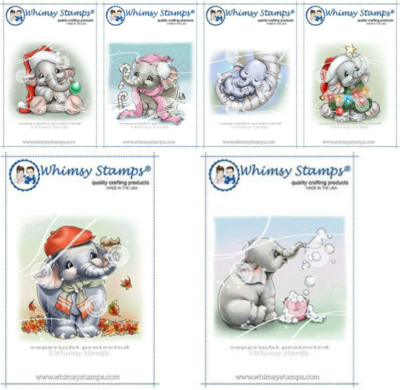 Ellie The Elephant - Whimsy Stamps