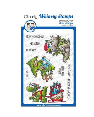 Dragon Christmas Wishes - Whimsy Stamps