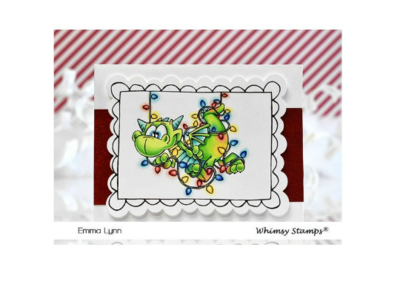 Dragon Christmas Cheer - Whimsy Stamps