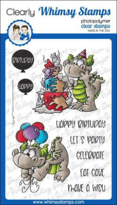 Birfday Party Dragons - Whimsy Stamps