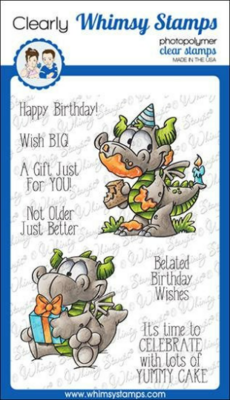 Birfday Dragons - Whimsy Stamps