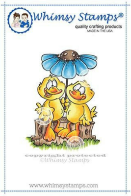 Duck Couple - Whimsy Stamps