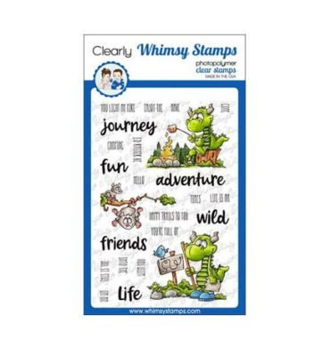Camping Dragons - Whimsy Stamps