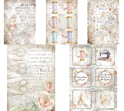 Romantic Threads Collection A4 - Stamperia