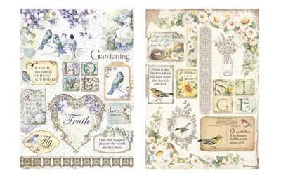 Flower Alphabet Collection A4 - Stamperia