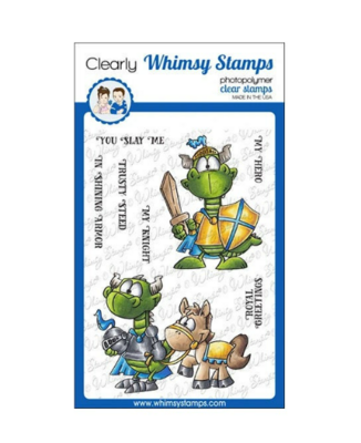 Knight Dragons - Whimsy Stamps