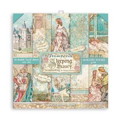 Sleeping Beauty 8x8 - Stamperia