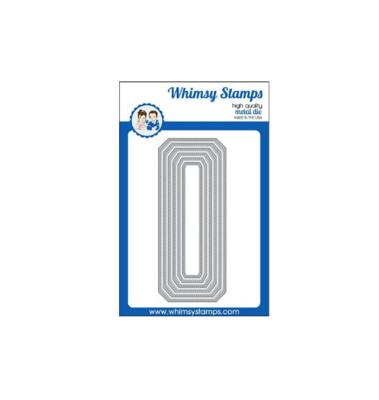 Slimline Cornered Rectangles - Whimsy Stamps
