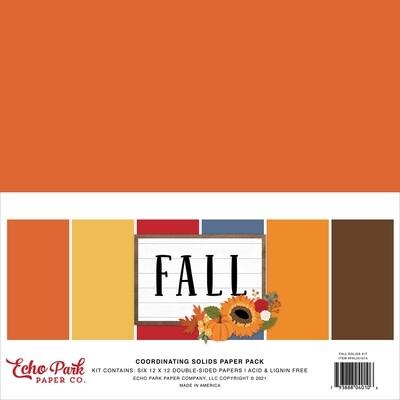 Fall Solids 12x12 - Echo Park Paper Co.