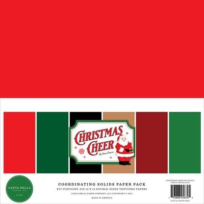Christmas Cheer Solids 12x12 - Carta Bella Paper Co.