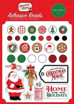 Christmas Cheer Decorative Brads - Carta Bella Paper Co.