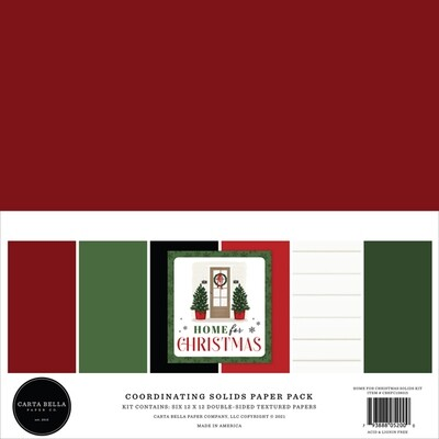 Home For Christmas Solids 12x12 - Carta Bella Paper Co.
