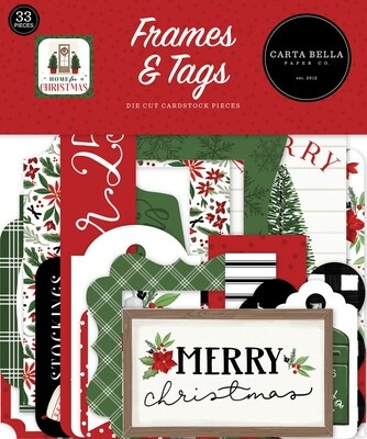 Home For Christmas Frames & Tags - Carta Bella Paper Co.