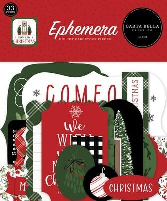 Home For Christmas Ephemera - Carta Bella Paper Co.