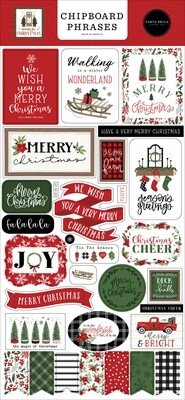 Home For Christmas Phrases - Carta Bella Paper Co.