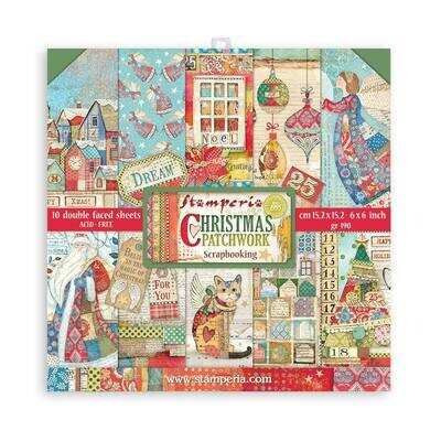 Christmas Patchwork 6x6 - Stamperia