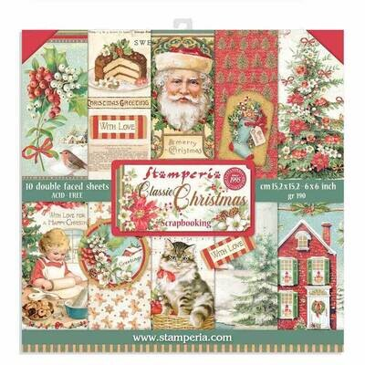 Classic Christmas 6x6 - Stamperia