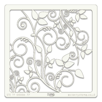 Leafy Swirl - Claritystamp