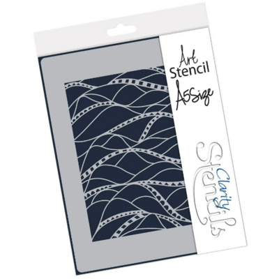 Doodleology Square Waves - Claritystamp