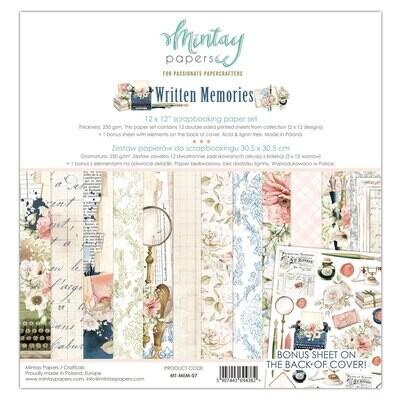 Written Memories 12x12 - Mintay Papers